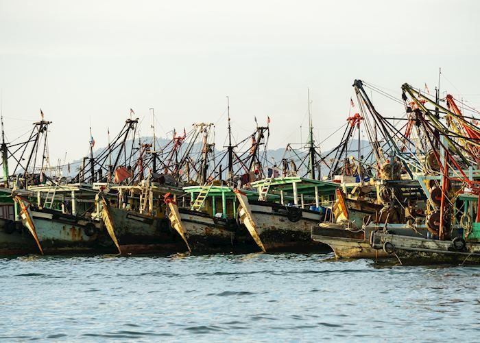 Fishing boats in Kota Kinabalu