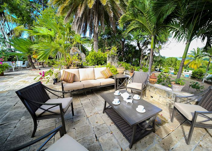 Outside seating, The Great House, Antigua