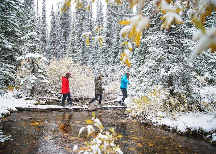Snowshoeing through the Rocky Mountains