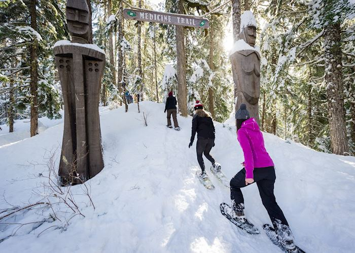 Snowshoe tour on The Medicine Trail, Whistler