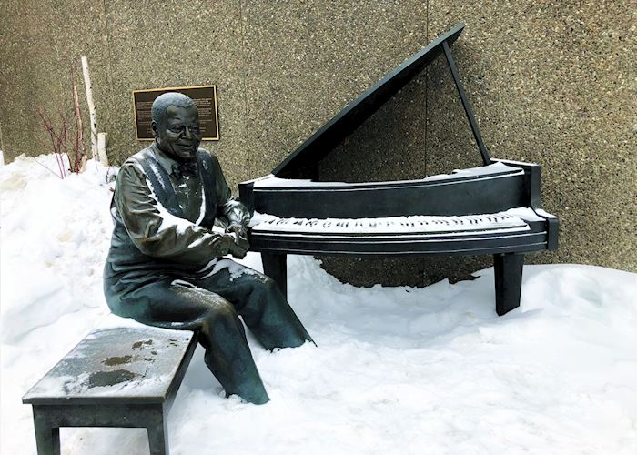 Oscar Peterson Statue outside National Arts Centre