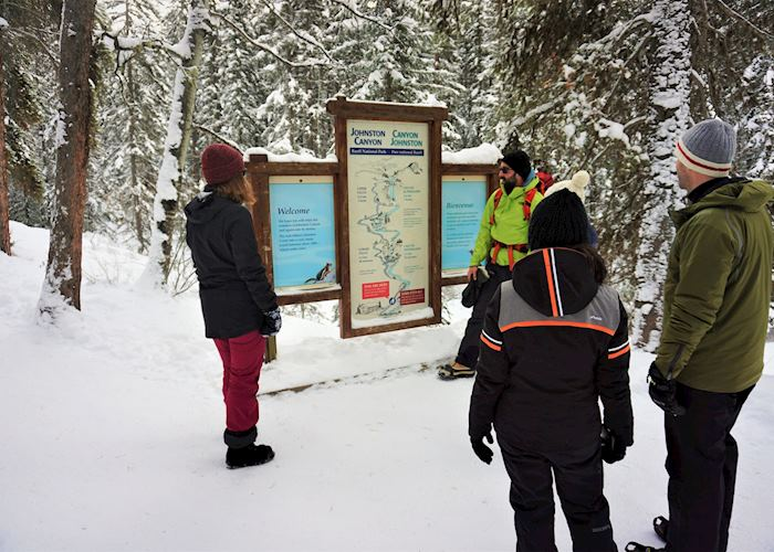 Johnston Canyon Icewalk , Banff National Park