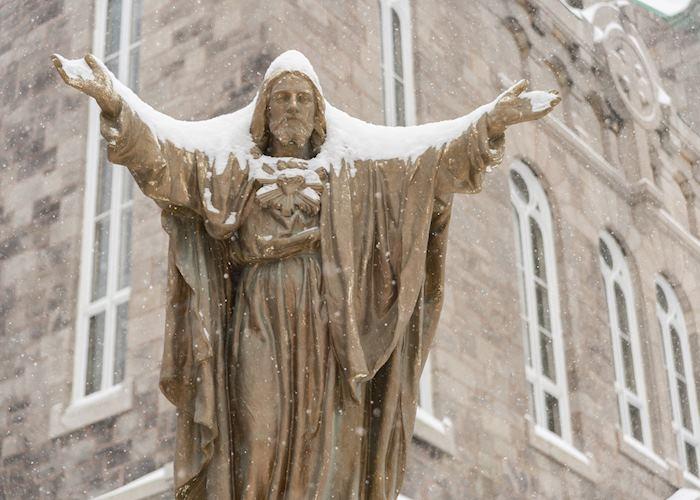 Statue of Jesus Christ in Plateau Neighborhood, Montréal