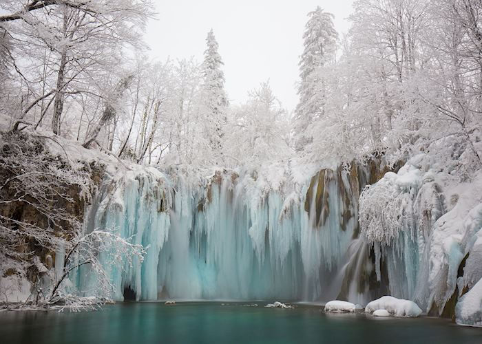 Frozen waterfalls, Plitvice Lakes National Park