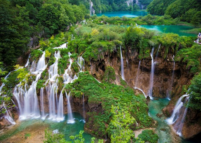 View from upper trails, Plitvice Lakes National Park