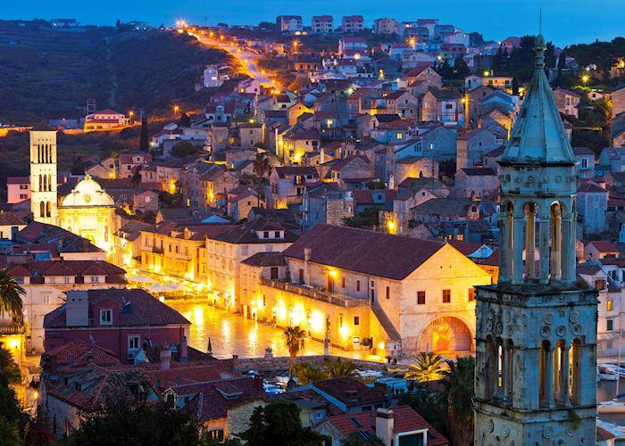 Hvar town at night, Croatia