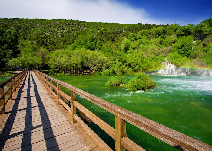 Walking trails at Krka National Park, Croatia