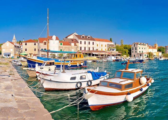 Local fishing boats in the bay, Zlarin