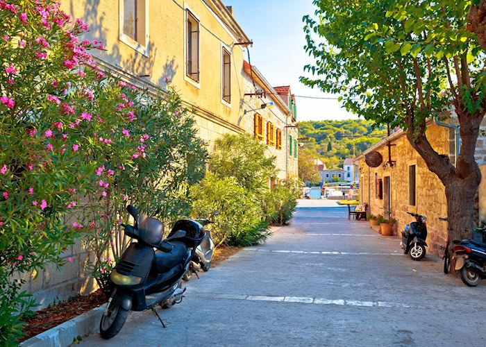 Flower lined streets, Zlarin