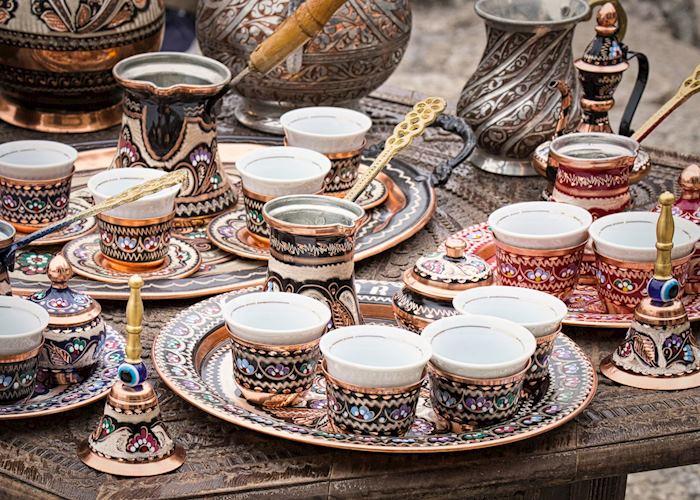 Coffee ceremony in Mostar, Bosnia and Herzegovina