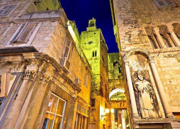 Diocletian's Palace at nighttime, Split