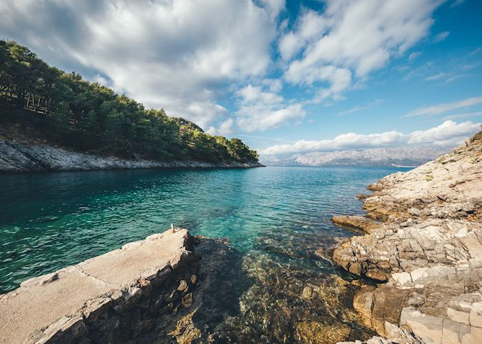 Rock beaches of Hvar, Croatia