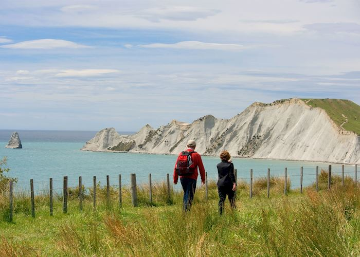 Walking at Cape Kidnappers