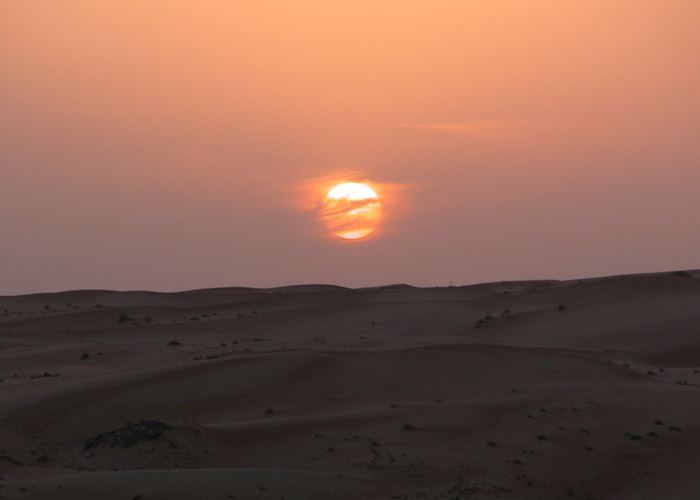 Sunset over the Wahiba Sands, Oman