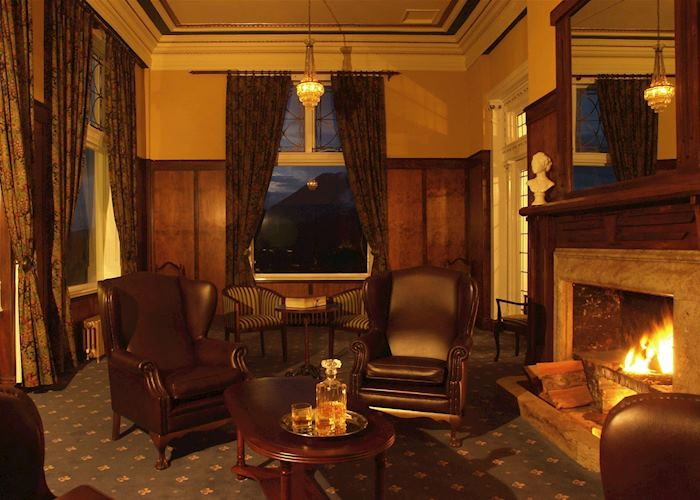 Sitting room at Chateau Tongariro, Tongariro National Park