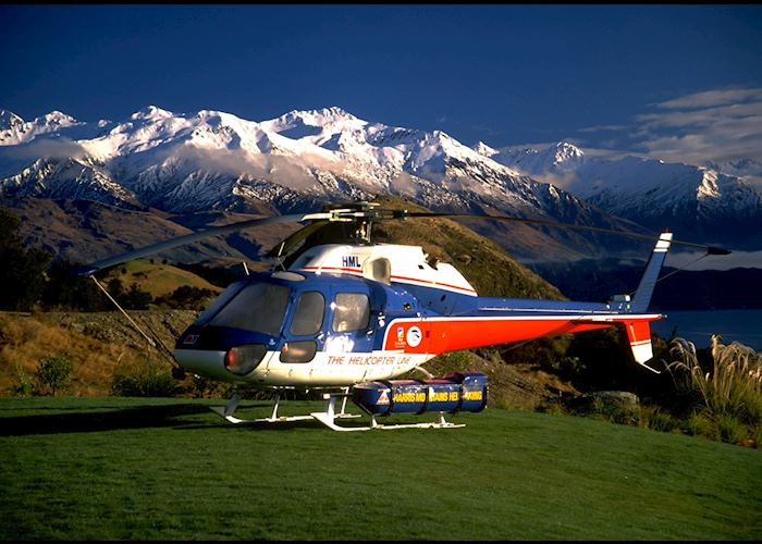 Helicopter up to the slopes, Whare Kea
