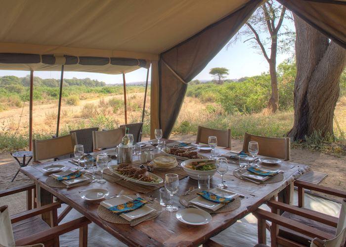 Dining Tent at Kichaka