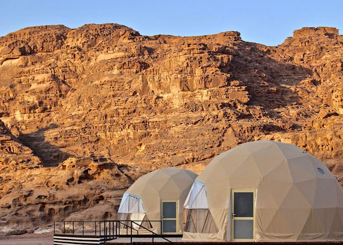 Martian tents at Sun City Camp, Wadi Rum
