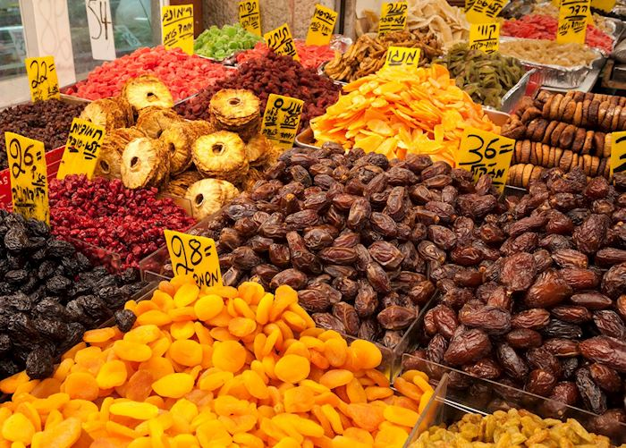 Dried fruits at the Mahane Yehuda market