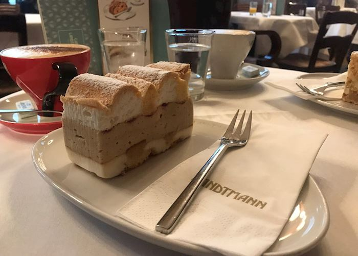 Coffee and cake at Cafe Landtmann, Vienna