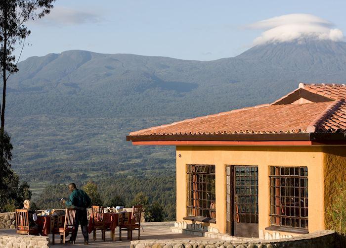 Breakfast at Sabyinyo Silverback Lodge, Ruhengeri