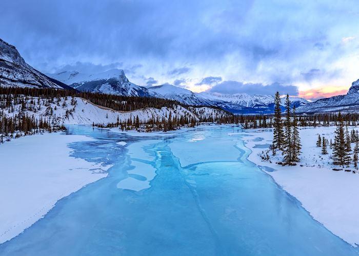 Sunset in Jasper National Park
