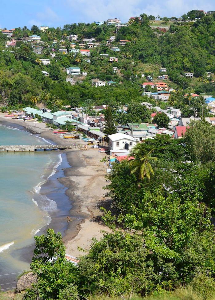Anse La Raye fishing village, Saint Lucia