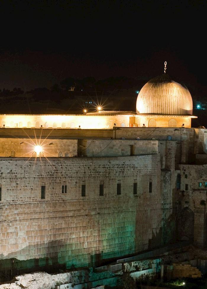 Al Aqsa Mosque and the Wailing Wall, Jerusalem