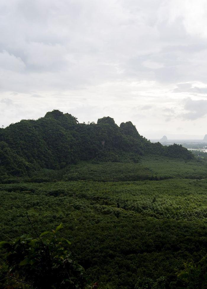 View of the Hpa An region from Mount Zwekabin, Burma (Myanmar)