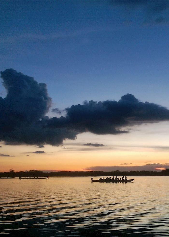 Sunset over the Amazon, Ecuador