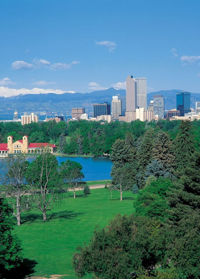 City Park and downtown Denver