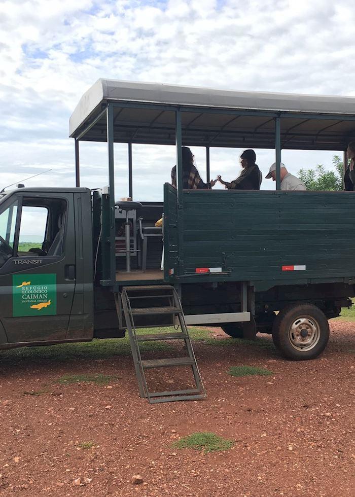 Safari vehicle at Caiman Lodge, Pantanal