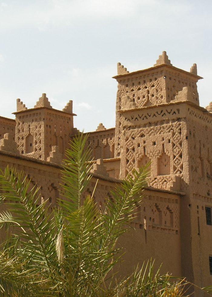 Large kasbah in Skoura's palm grove