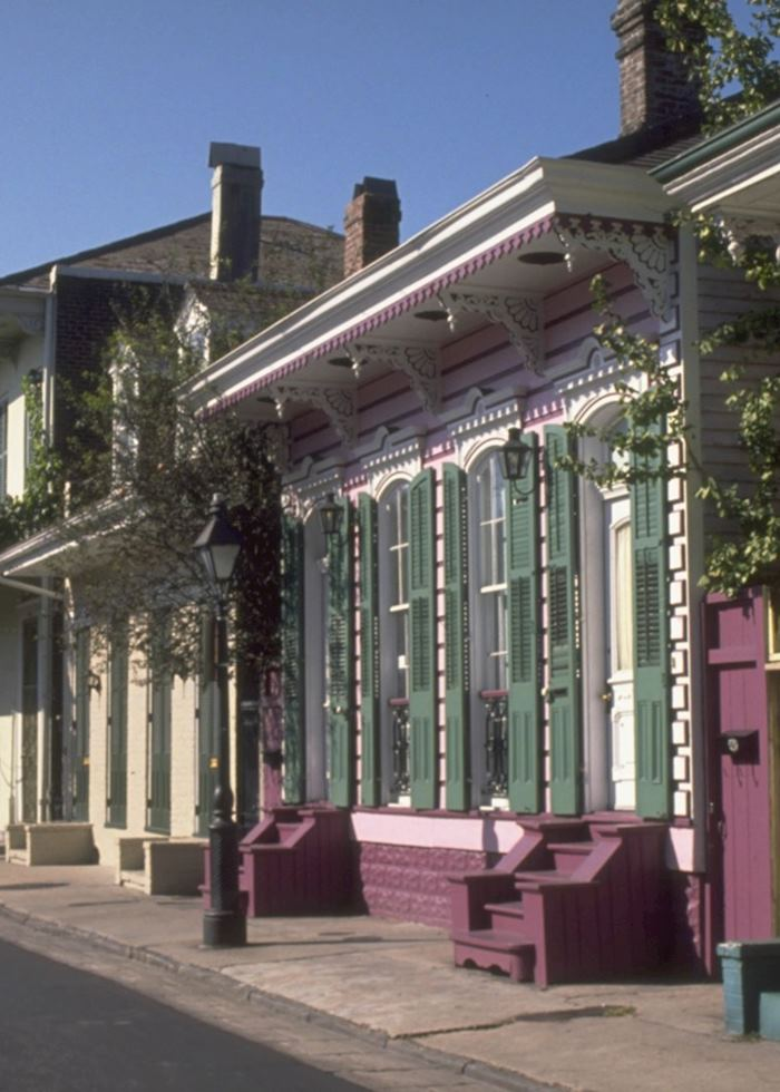 Bourbon Street houses, New Orleans