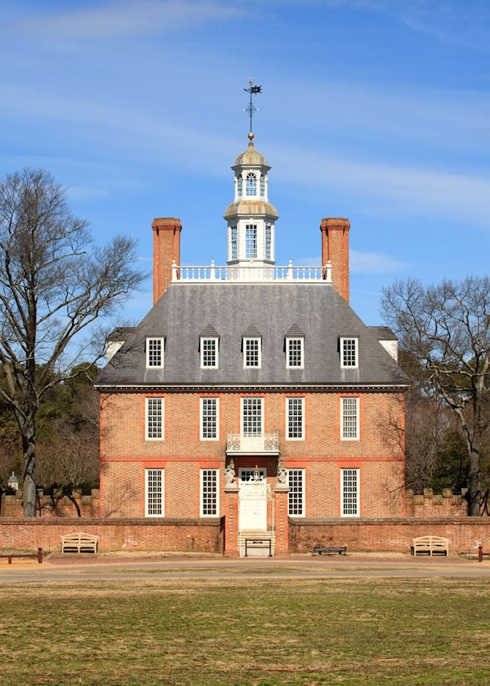 The Governor's Palace in Williamsburg, Virginia