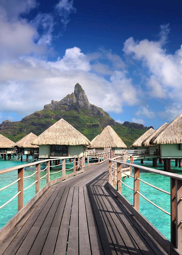 Overwater bungalows in Bora Bora