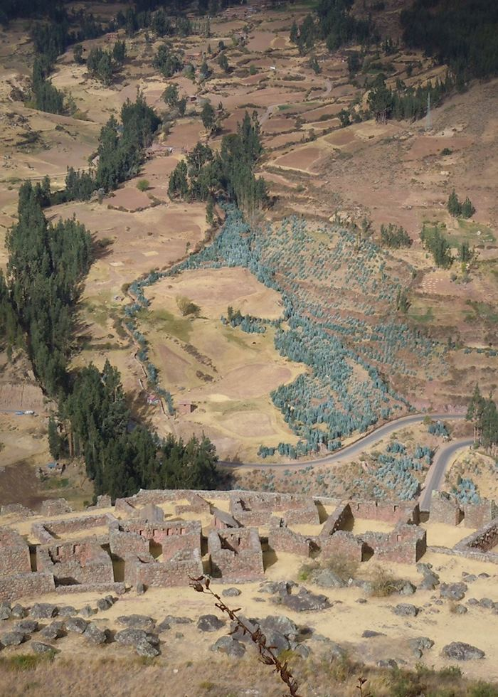 Inca ruins in the Sacred Valley of the Incas