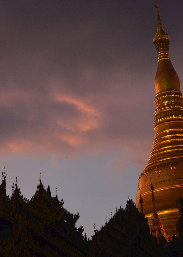 Sunset over Shwedagon, Yangon, Burma (Myanmar)