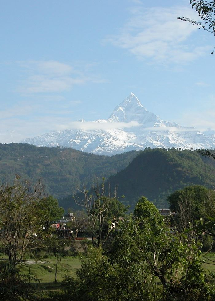 Fishtail Mountain, viewed from Pokhara