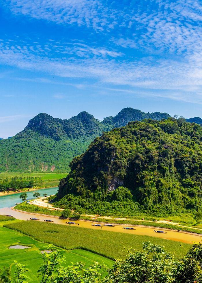 Scenery around Phong Nha-Ke Bang National Park, Vietnam
