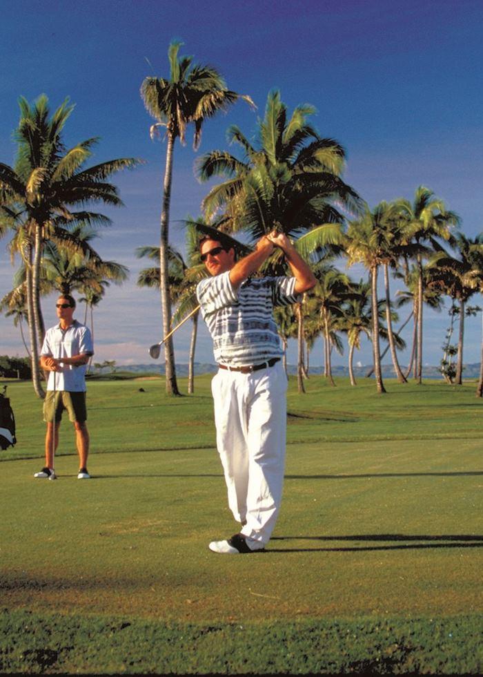 Golf course on Denarau Island and Port Denarau