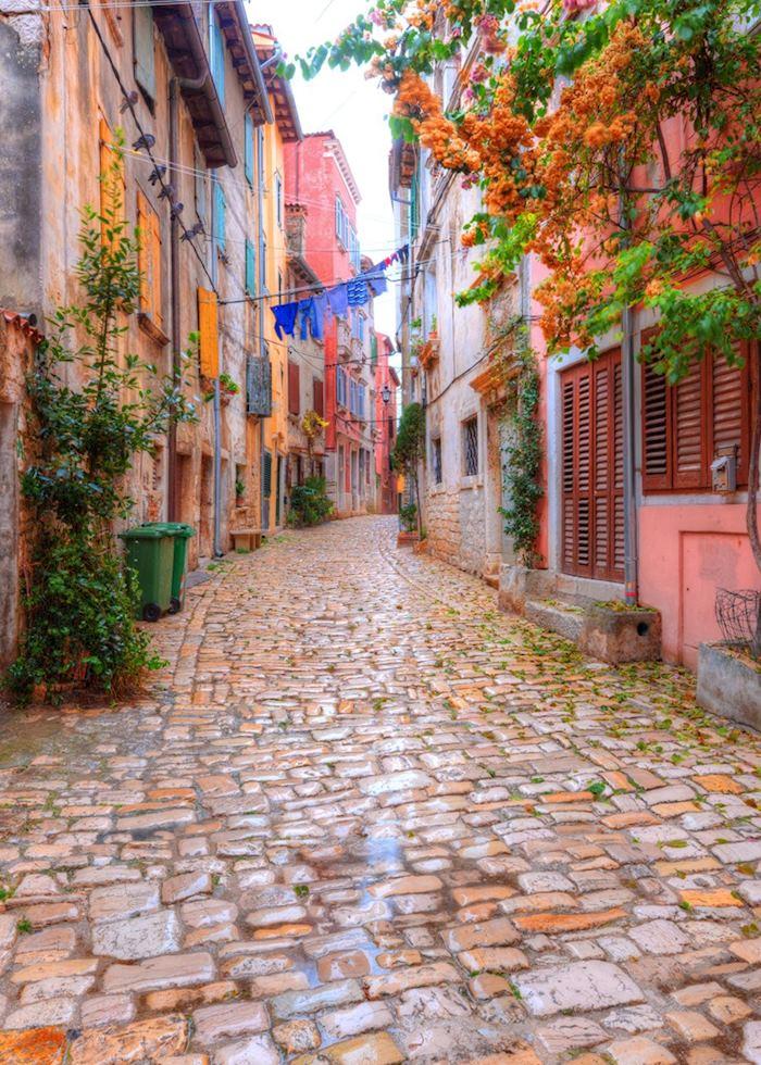 Cobblestone streets, Rovinj