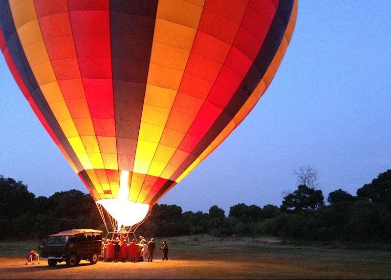 Hot-air balloon safaris in Kenya